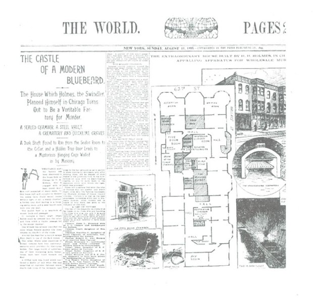 Holmes Newspaper Account